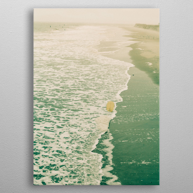 I'm always wandering by the sea. It has become a part of me. metal poster