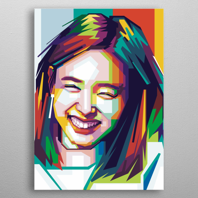 i make this popart of nayeon twice because i hope fans of her will be download this metal poster