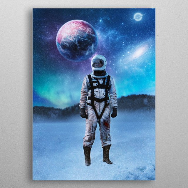 Fascinating metal poster designed by Nikki Arts. Displate has a unique signature and hologram on the back to add authenticity to each design. metal poster