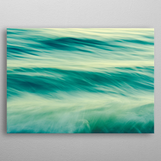 Long exposure abstract photograph of the sea by Olivia St.Claire metal poster