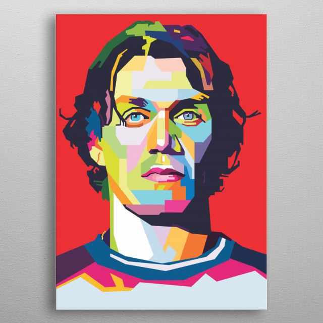 Paolo Cesare Maldini (born 26 June 1968) is an Italian former professional footballer who played as a left back and central defender. metal poster