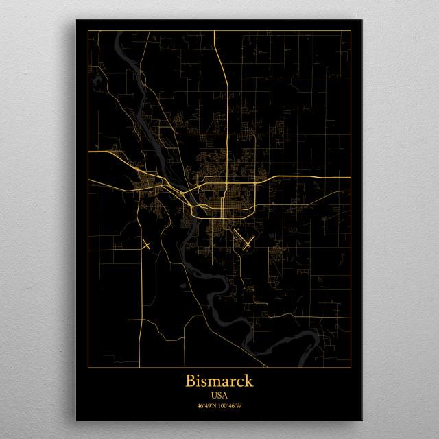 Bismarck USA metal poster