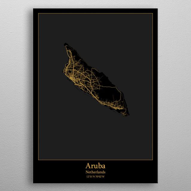 Aruba Netherlands metal poster