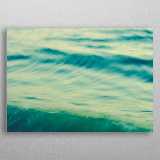 Long exposure abstract ocean photograph of waves by Olivia St.Claire metal poster