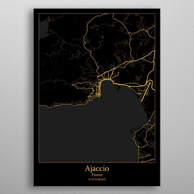 Ajaccio France metal poster