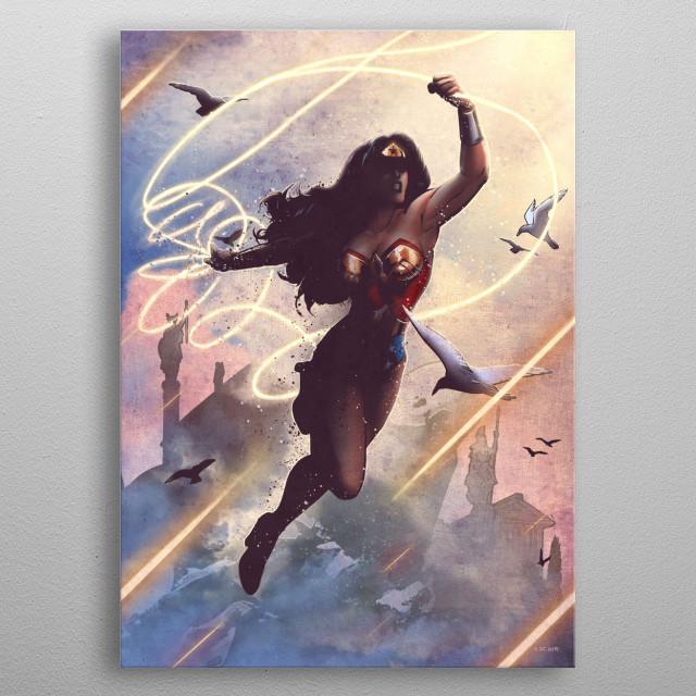 Wonder Woman metal poster