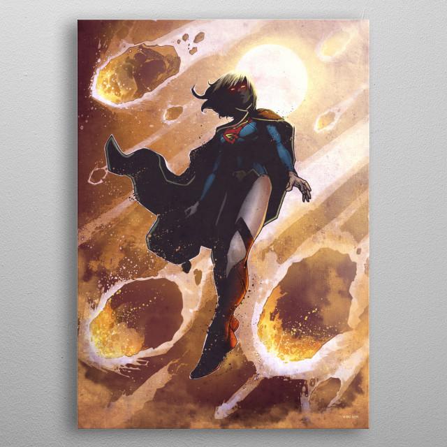 Supergirl metal poster