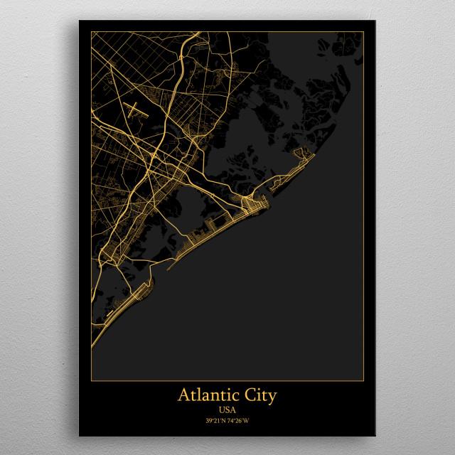 Atlantic City USA metal poster