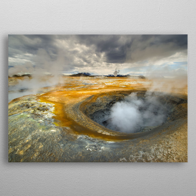 High-quality metal print from amazing Iceland collection will bring unique style to your space and will show off your personality. metal poster