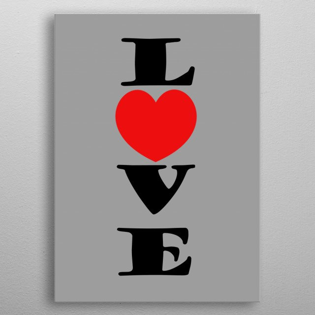 VALENTINE DAY GIFT metal poster