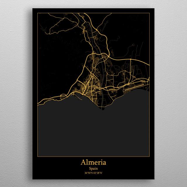 Almeria Spain metal poster
