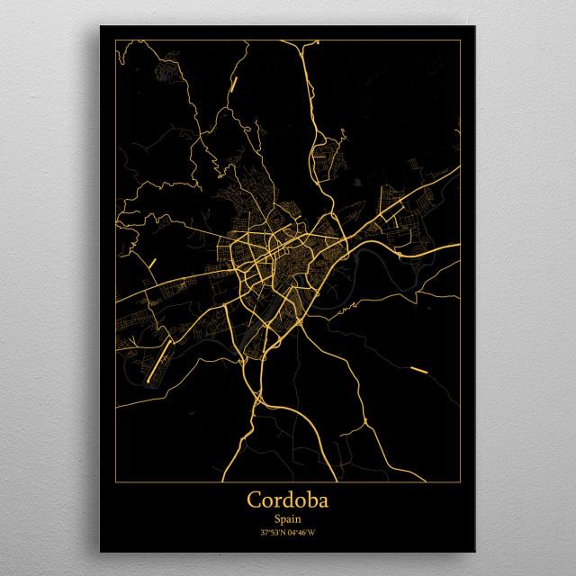 Cordoba Spain metal poster
