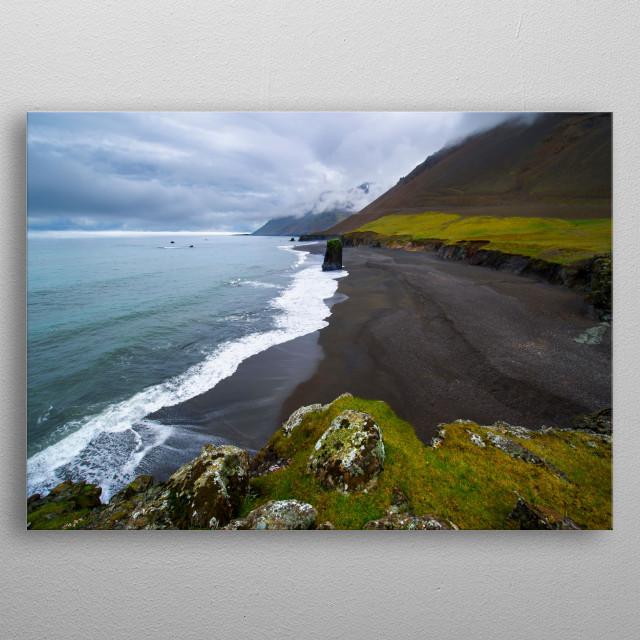 Vik, sud of Iceland metal poster