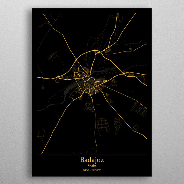 Badajoz Spain metal poster