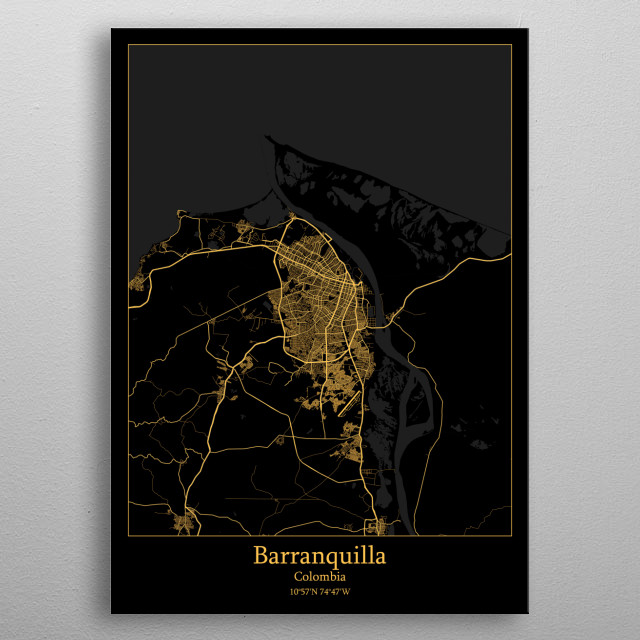 Barranquilla Colombia metal poster
