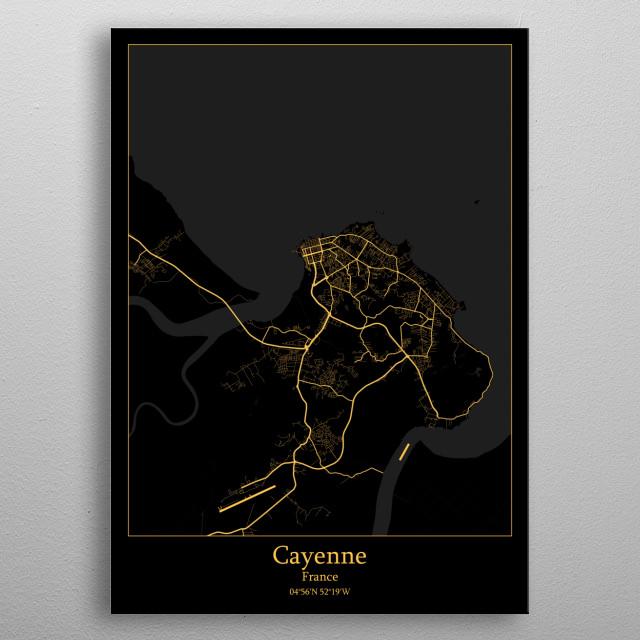Cayenne France metal poster