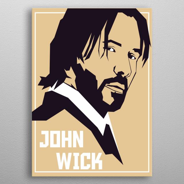 John wick in vintage uncurve portrait metal poster