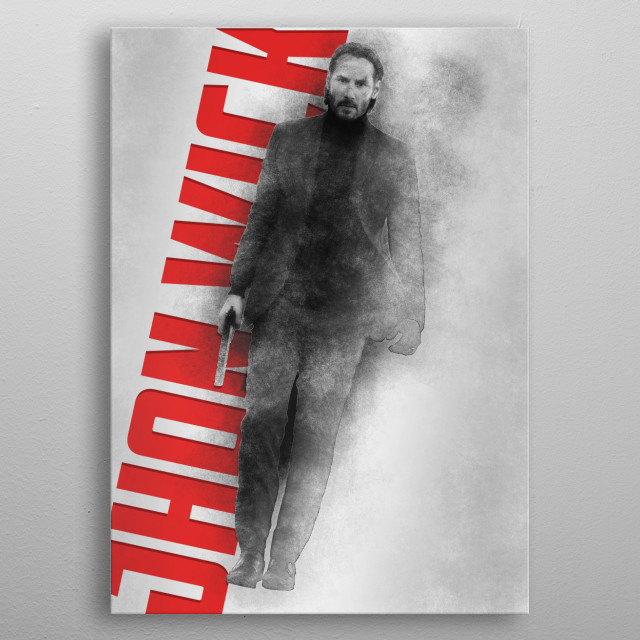 John Wick High Quality Sketched Poster metal poster