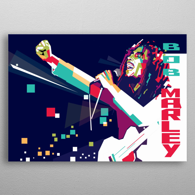 Robert Nesta Marley, OM (6 February 1945 – 11 May 1981) was a Jamaican singer-songwriter metal poster
