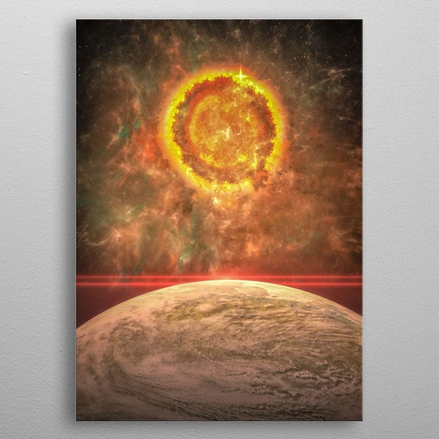 The death of a star, the final explosion metal poster