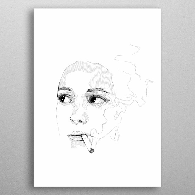Inspired by young Winona Ryder from the movie ''A night on earth''  metal poster
