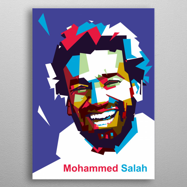 Mohamed Salah Hamed Mahrous Ghaly is an Egyptian professional footballer who plays as a forward for Premier League club Liverpool  metal poster