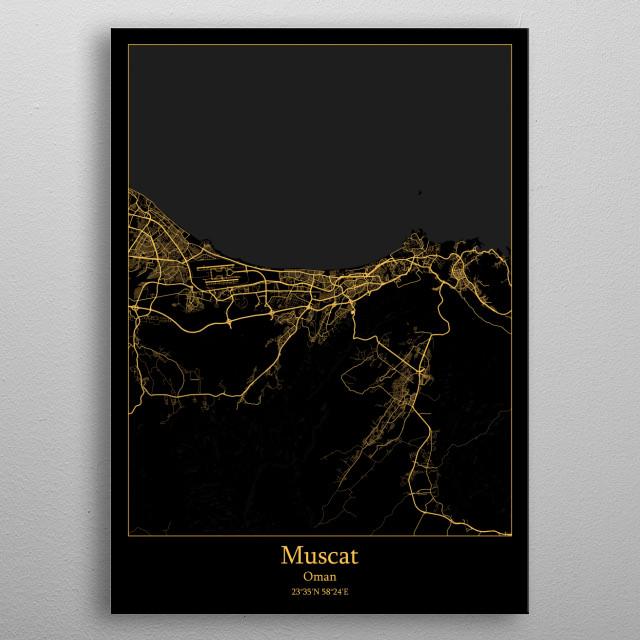 Muscat Oman metal poster