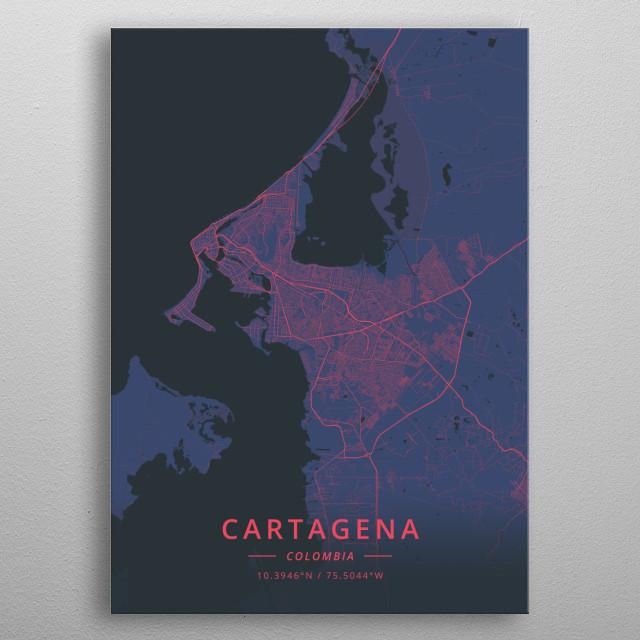 Cartagena, Colombia metal poster