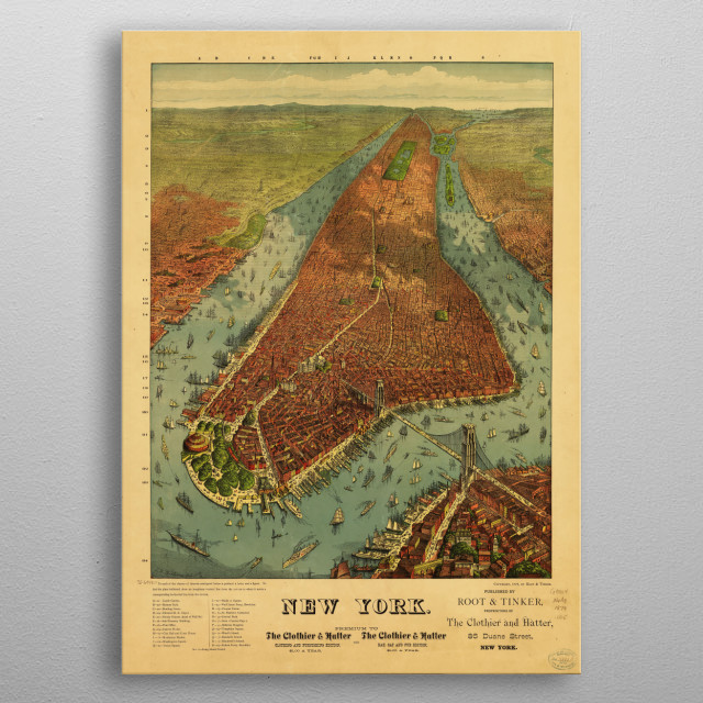 Title     New York. Contributor Names     Williams, J. W., active 1879.      Root & Tinker.  Created / Published     1879 metal poster