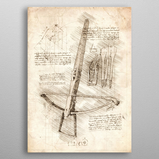 Sketch of an old Crossbow metal poster