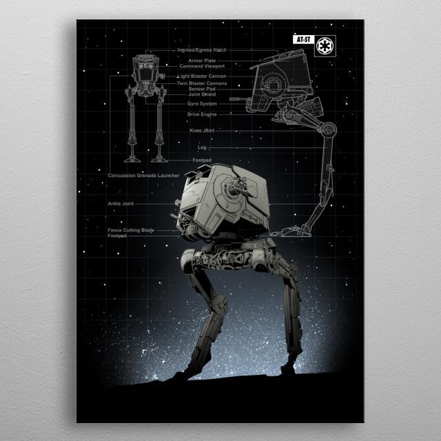 AT_ST metal poster