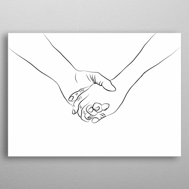 Holding Hands By Melody Watson Metal Posters Displate