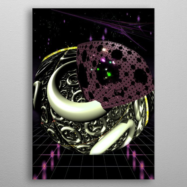 Space freight. Star Way Truckers on Highway. Transports everything that exists metal poster