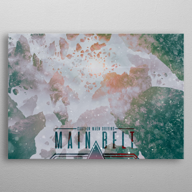 Holiday inspired posters of distant planets.  metal poster