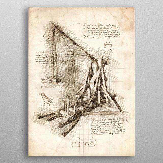 Sketch of an old Trebuchet metal poster