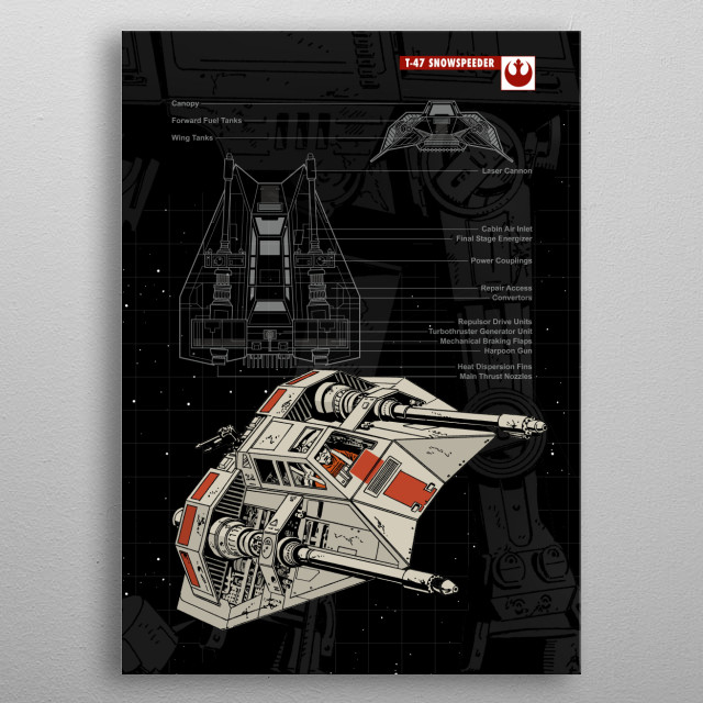 T47 - Snowspeeder metal poster