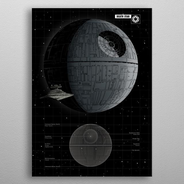 Death Star metal poster