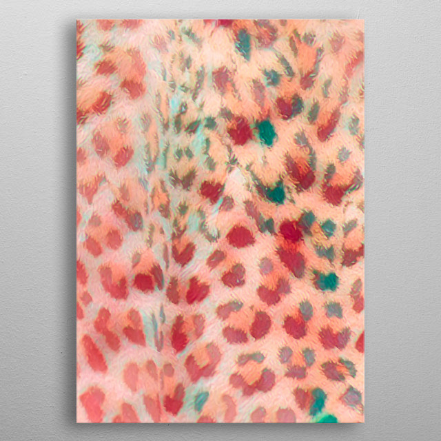 abstract colorful spotted art metal poster
