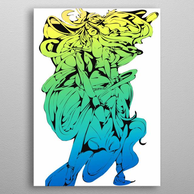 digital art metal poster