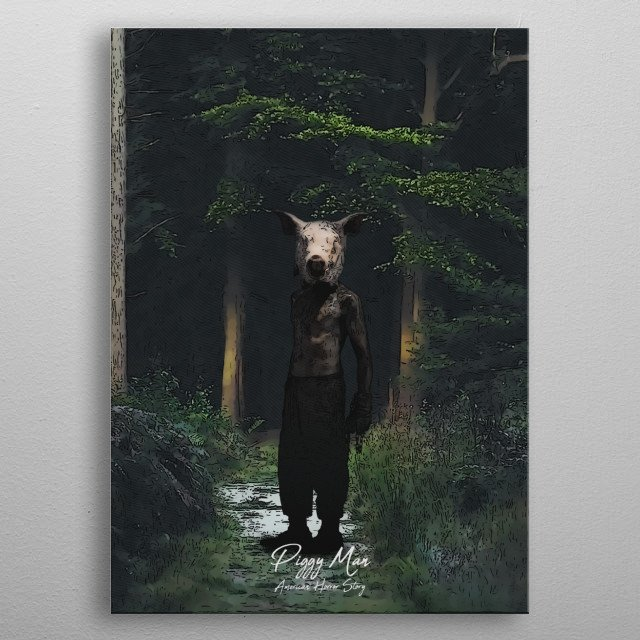 Piggy Man - American Horror Story metal poster