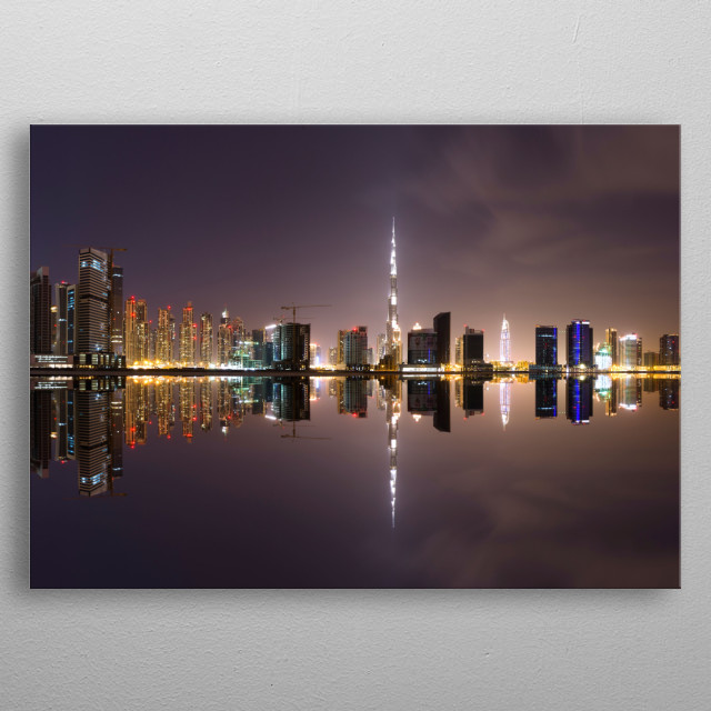High-quality metal print from amazing Dubai collection will bring unique style to your space and will show off your personality. metal poster