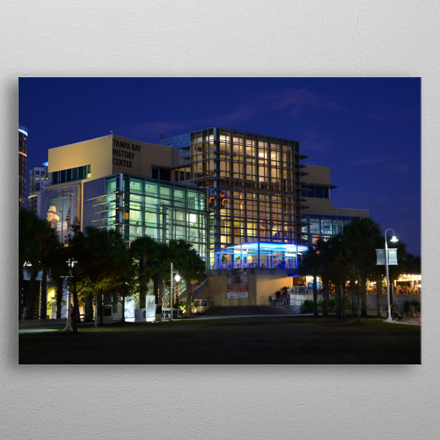 Fine art photography of the Tampa Bay History Museum.  metal poster