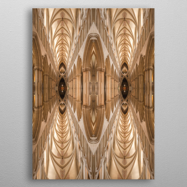 Abstract picture with 2 separated tunnels  metal poster