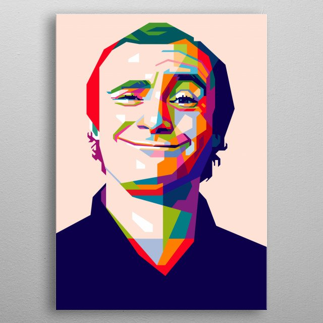 Phil Collin in PopArt Illustration metal poster