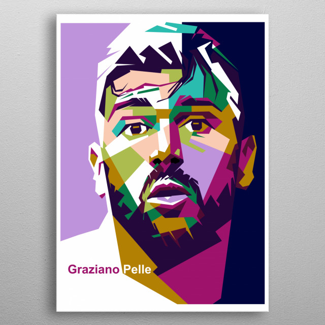Graziano Pellè is an Italian professional footballer who plays as a striker for Chinese club Shandong Luneng and the Italy national team. metal poster