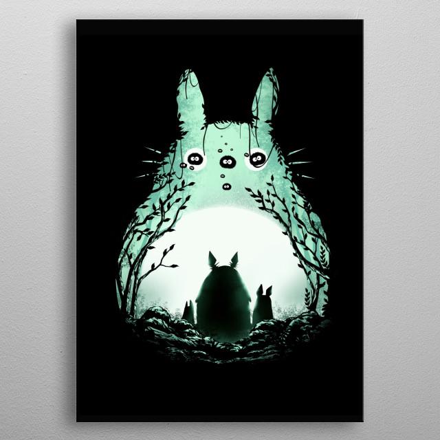 Midnight Totoro metal poster