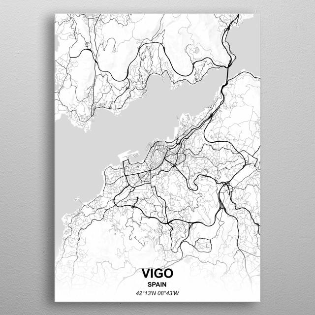 Vigo Spain metal poster