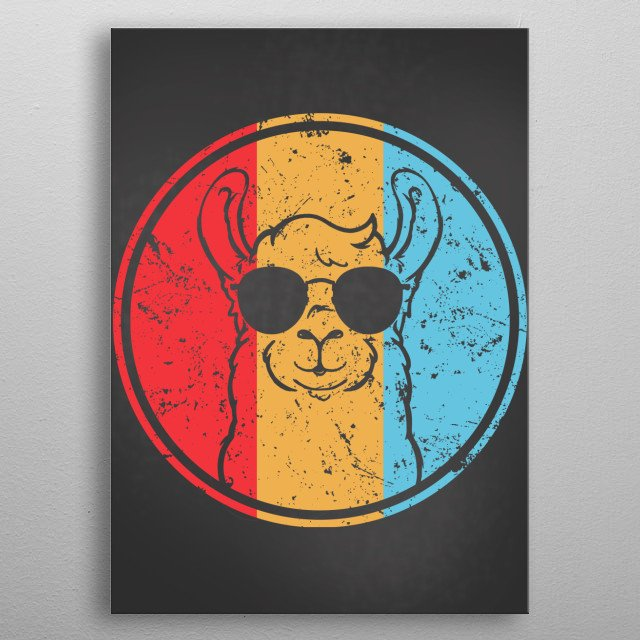 Do you love LLamas and Alpacas? Get this vintage Alpaca Displate. Perfect for people who love alpacas and animals metal poster