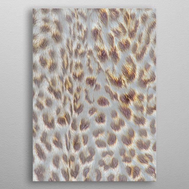 abstract leopard fur for texture background metal poster