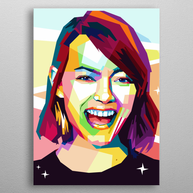 """Emily Jean """"Emma"""" Stone (born November 6, 1988) is an American actress. metal poster"""